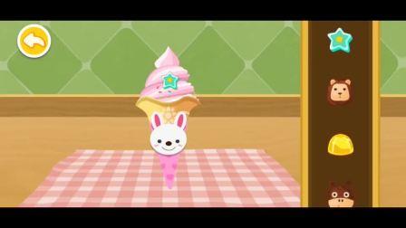 小蓝猫吃了个冰淇淋,笑的好甜啊!宝宝巴士游戏
