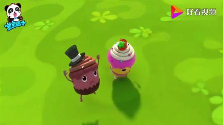 宝宝巴士:杯子蛋糕蓝莓,用摇控飞机把朋友们救上来,太棒了!