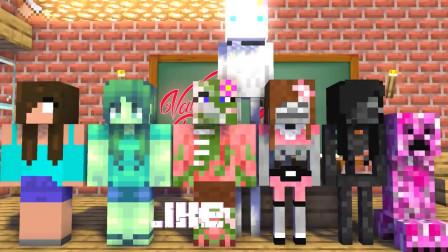 我的世界动画-怪物学院-情人节-MineCZ