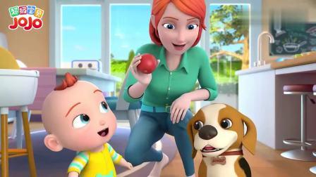 超级宝贝JOJO:做苹果布丁,一起创造美味童趣,共享甜蜜亲子时光