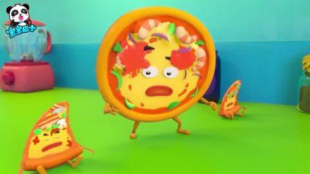 《宝宝巴士美食总动员》汉堡联盟 可乐杯用冰块炮弹把坏蛋击败了