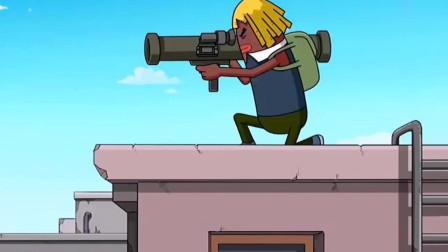 动漫视频:达达瓦特当小白鼠,新版本大炮打自己#动画#