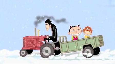 阿衰:半夜下起了冰雹,阿衰大脸妹坐在拖拉机上快扛不住了