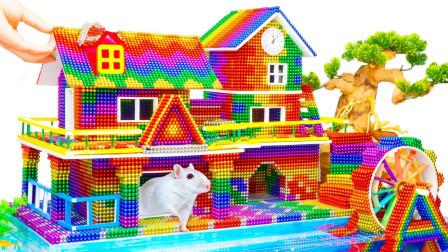 巴克球玩具建造海滩度假房屋