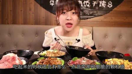 大胃王mini一次吃八碗烧肉饭,那么多肉看到都让人嘴馋