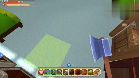 迷你世界雪国奇遇人利用工作台复制小城堡!发现还会吃东西