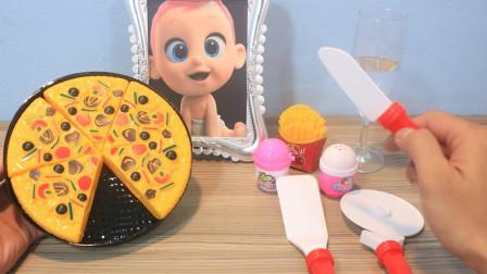 总是饿吃另类披萨,看得回不过神儿了!