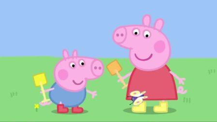 小猪佩奇:蝴蝶为何喜欢花朵,猪爷爷给解释,佩奇涨知识了