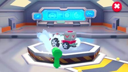 拿上水枪,把小汽车喷得干干净净的。宝宝巴士游戏