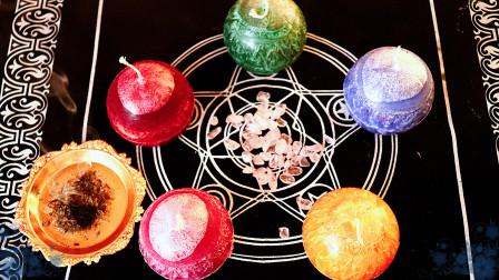 小巫师 五芒星星球蜡烛 配合占卜 能量石使用效果最佳
