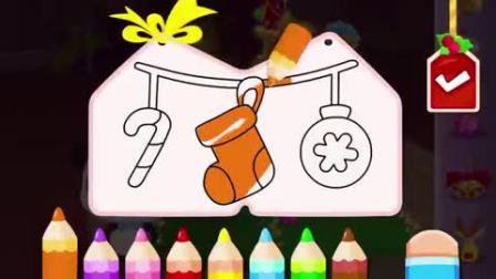 奇奇要做一颗圣诞树,圣诞树需要卡片吗?宝宝巴士游戏(3)