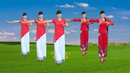 精选热门广场舞《荞麦花》陕北民歌欢快舞步,动听易学真好看