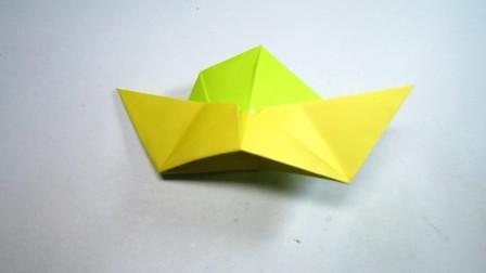 手工折纸帽子,简单又有趣,超喜欢