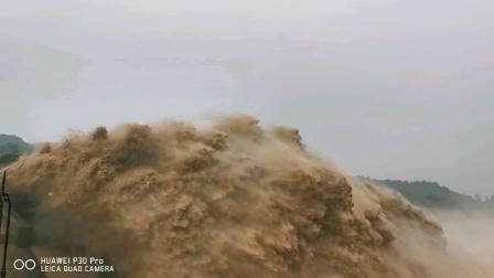 黄河之水天上来,洛阳小浪底风景区欢迎你来,奔流到海不复回,看此景观还要你等一回。北大洛阳校友会党员王延辉拍摄20200801