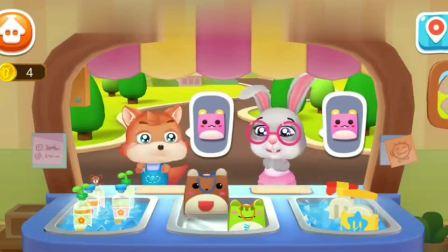 宝宝冰淇淋工厂 乐乐想买草莓味冰淇淋~宝宝巴士游戏(1)