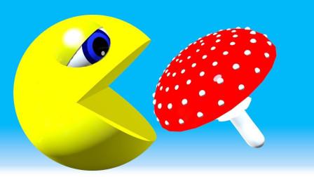 小球球打开积木箱吃香蕉蘑菇早教视频益智学颜色