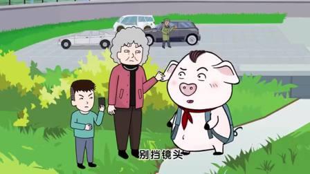 猪屁登:看到老爷爷砸车,奶奶不去制止反而拍照,结局很解气