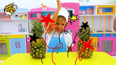 辛苦做好的菠萝味冰激凌又被要求退货,萌娃小可爱:我真是太难了
