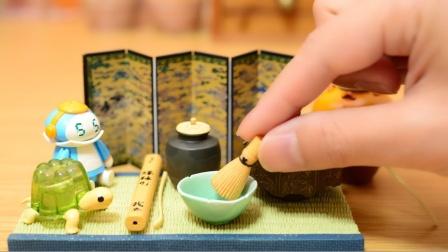 定格动画-喝杯中式下午茶呀 微型茶具食玩展示