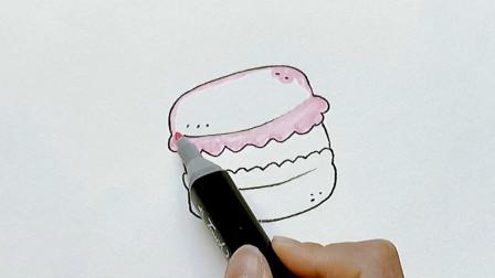 怎样画法式小圆饼马卡龙?