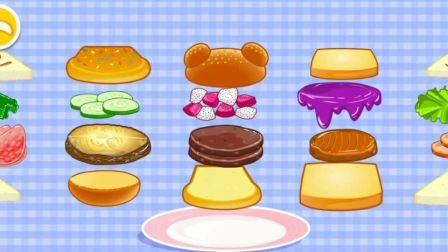 快乐美食街,汉堡、果汁、冰淇淋你喜欢的食物是什么?宝宝巴士游戏
