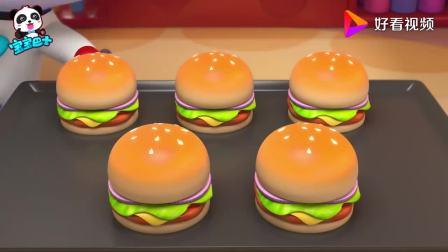 宝宝巴士:这里有五个鸡腿堡,可是有六个小朋友,少分给谁都不行