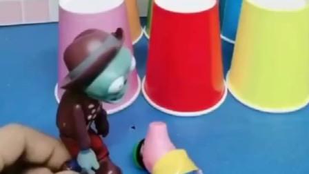 僵尸把乔治藏起来了,奥特曼来救乔治了,但是他不知道乔治在哪里