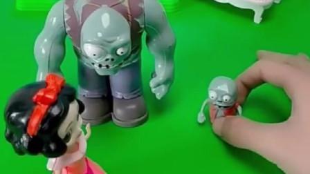 巨人僵尸和小鬼给白雪贝儿打招呼,白雪和贝儿的态度太不同了,大家喜欢谁