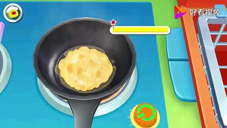 宝宝巴士:黄油,鸡蛋液白米饭蔬菜,鸡精盐香葱