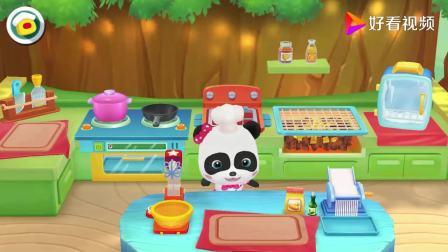 宝宝巴士:河马先生胃口大,今天非要吃牛排,熊猫宝宝帮他做