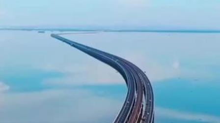 看南京天空之镜石臼湖,观碧水共长天一色!绝美❤️