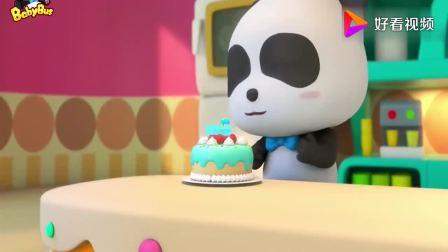 宝宝巴士:大灰狼真贪吃,为了偷吃奇奇的蛋糕,结果摔倒受伤了