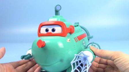 超级飞侠新玩具:威利潜水艇来了,水陆两用无惧挑战