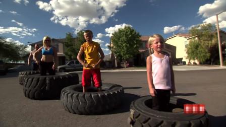 世界上最强大的家庭,五岁女儿都能举100磅杠铃,是她体重的两倍!