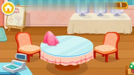 宝宝巴士奇妙咖啡餐厅,给客人做个冰淇淋吧?宝宝巴士游戏(2)