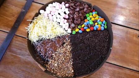 印尼美食彩虹蛋糕,看着很漂亮,就不知道味道怎么样