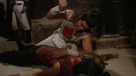 叉手:叉手的人闯进厨房,小伙计从中阻拦,叉手被饭铲子插了!