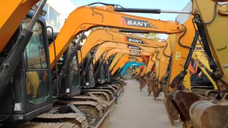 直击二手挖掘机产业中心,大小挖机数以千台,可算长见识