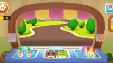 冰淇淋工厂 奇奇学习制作冰淇淋以及糖果!宝宝巴士游戏