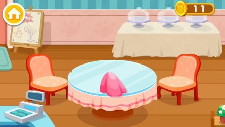 宝宝巴士奇妙咖啡餐厅,给客人做个冰淇淋吧?宝宝巴士游戏