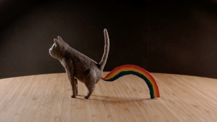 3D打印笔到底有多牛?小伙随手画了一只彩虹屁猫咪,成品太惊艳