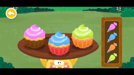 小蛋糕出炉了 应该加上什么味道的奶油会更美味呢?宝宝巴士游戏(1)