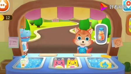 兔一一做果汁,壮壮想喝香蕉和橘子味道!宝宝巴士游戏