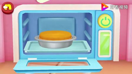 宝宝巴士:做好的蛋糕放进烤箱,你知道怎么烤吗,想不想做蛋糕