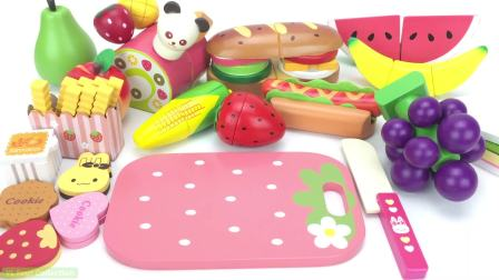 国外儿童时尚,用甜饼西瓜木玩具学习水果蔬菜名称,快来看看吧