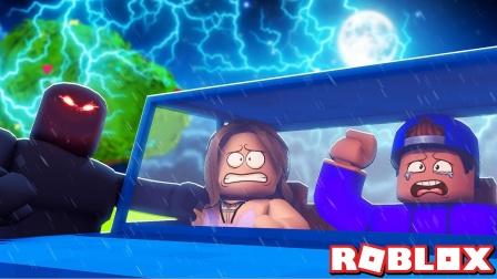 小格解说 Roblox 暴风夜故事模拟器:暴风夜大冒险!误入幽灵餐馆?乐高小游戏