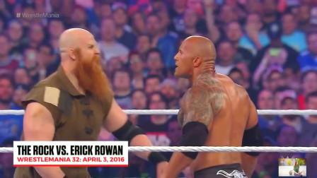 WWE:巨石强森最轻松的一场比赛,只用几秒就秒杀对手!