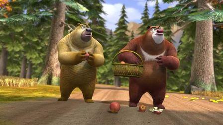 熊出没之熊心归来:秋天果子熟透了就会掉到地上,这是重力!