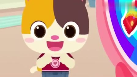 宝宝巴士:小猫咪用彩色棉花糖做美味披萨,一起动手做起来吧