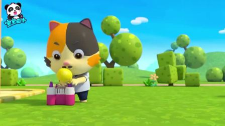 《宝宝巴士奇异救援队》生日蛋糕装饰气球把蛋糕台带飞了起来(1)